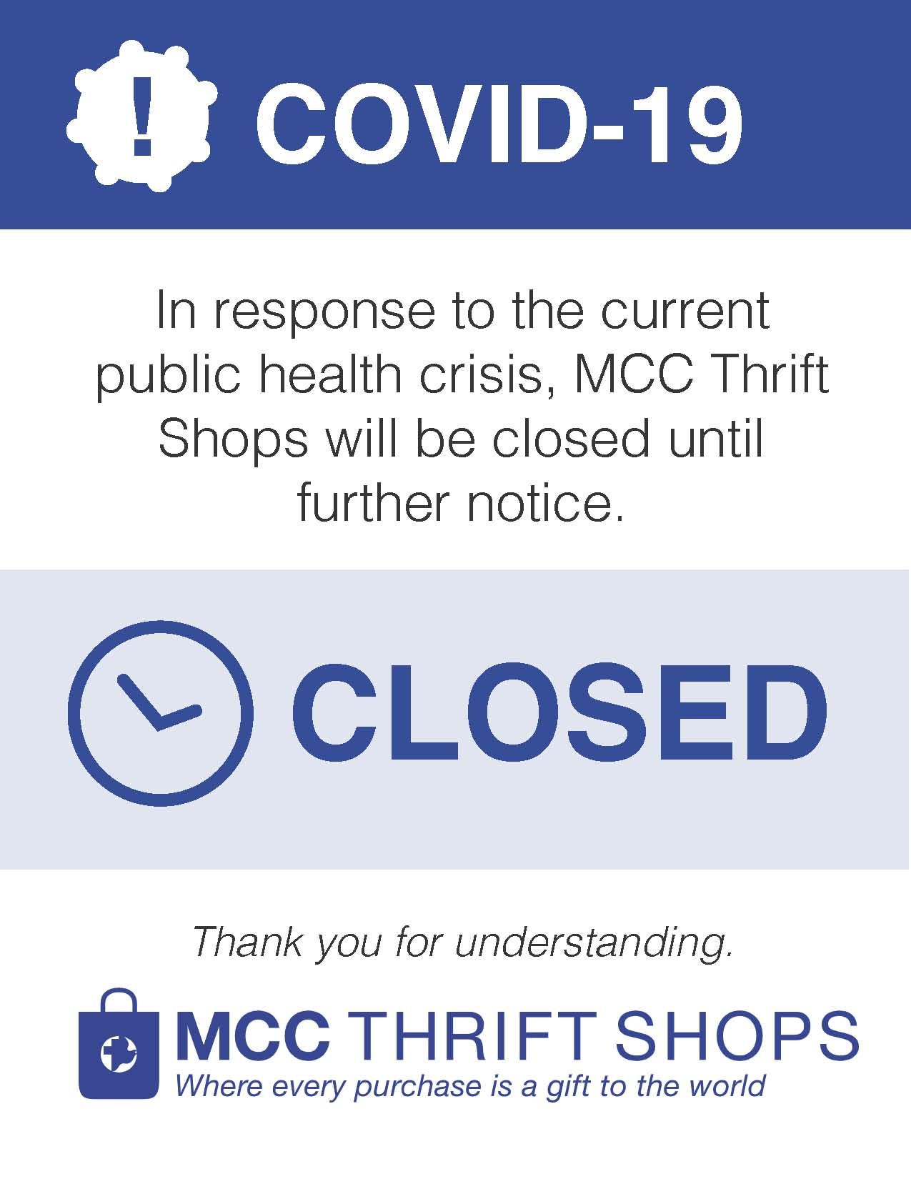 MB SHOPS COVID thrift closure hours 2020.3.17
