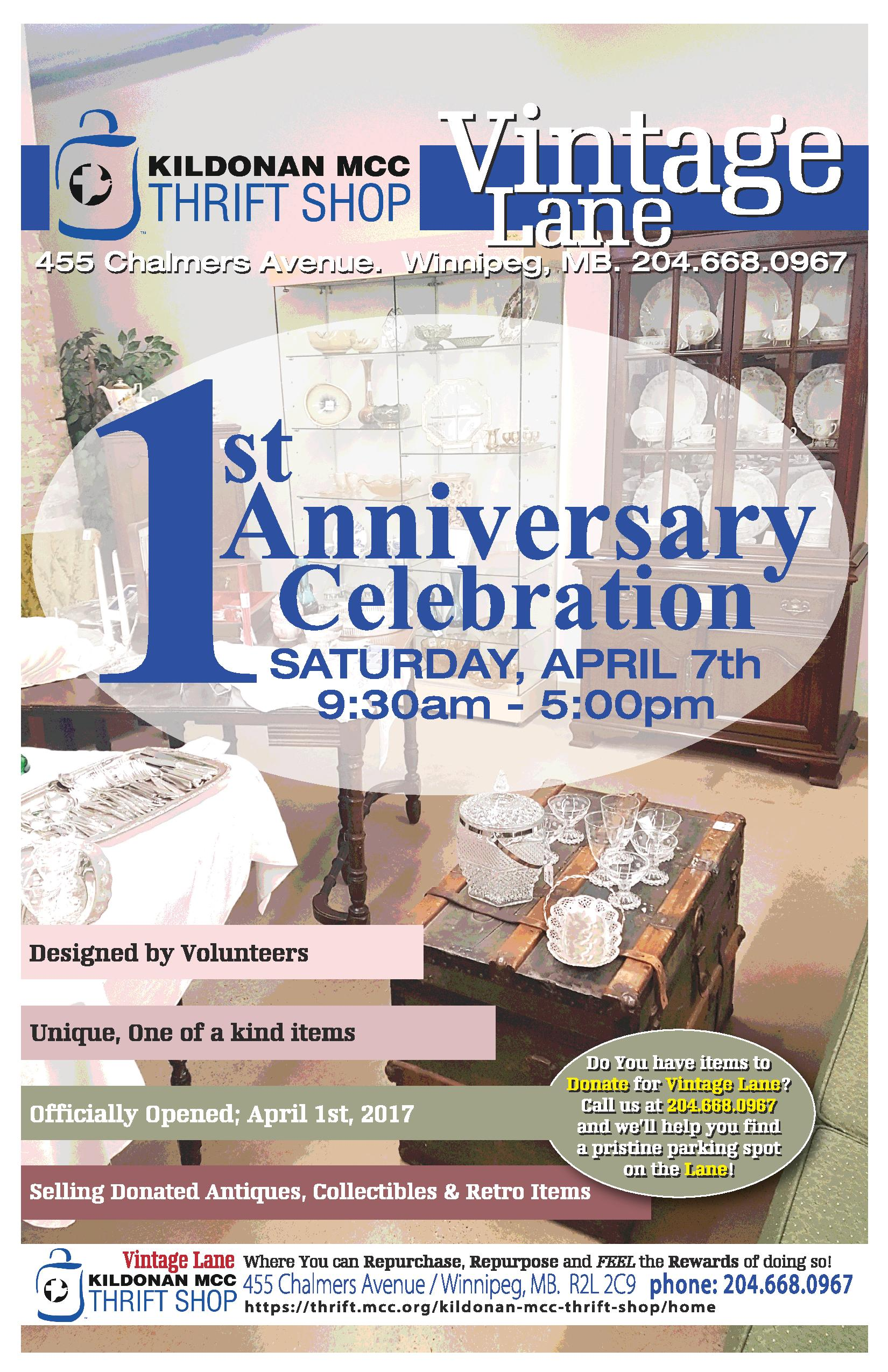 KMTS Vintage Lane 1st Anniversary Celebration